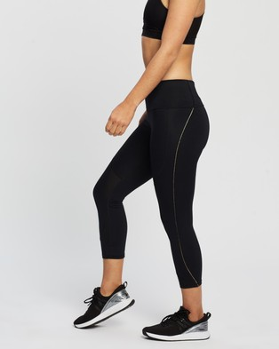 Under Armour UA Rush Side Piping Crop Tights - all compression (Black Iridescent)