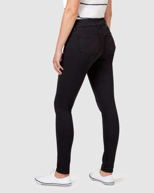 Jeanswest Hip Hugger Skinny Jeans Black Night - Jeans (Black Night)