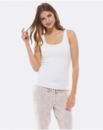 Deshabille Sleepwear Any Excuse Tank Ivory