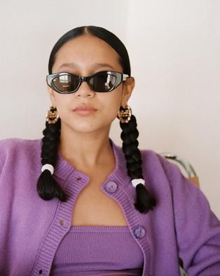 Lu Goldie Camille - Sunglasses (Black)