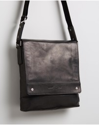 Kenneth Cole - Leather North South Messenger
