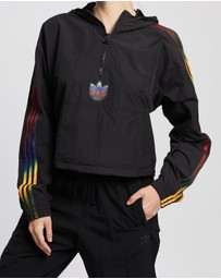 adidas Originals - Adicolor Half-Zip Crop Top