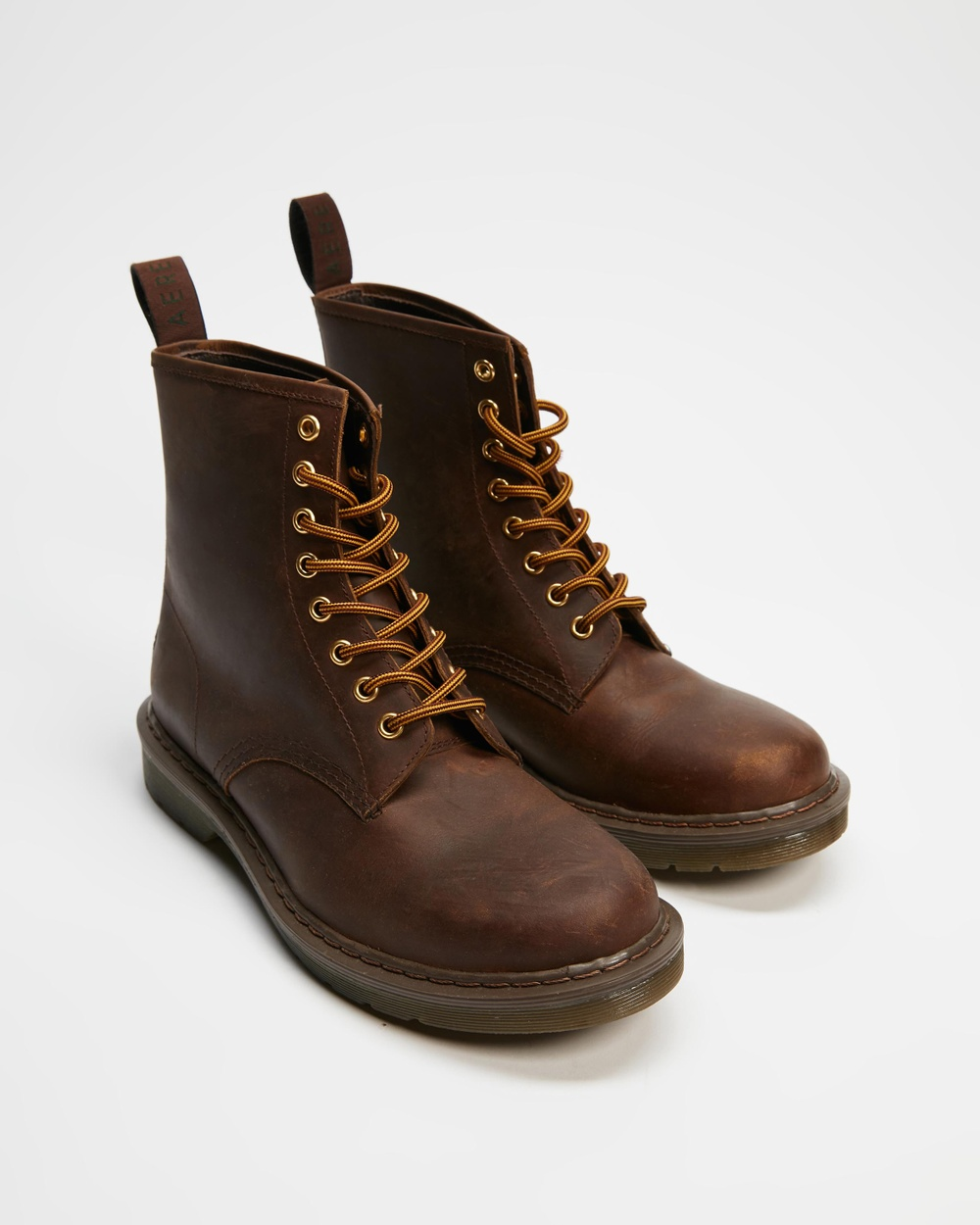 AERE Leather Lace Up Boots Brown Lace-Up
