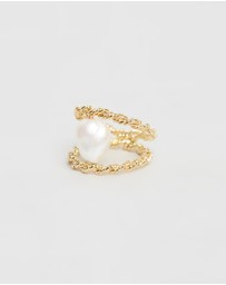 Joanna Laura Constantine - Double Twisted Ring with Pearl