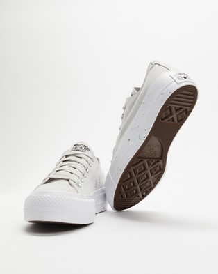 Nueve Whitney dilema  Australia Converse Chuck Taylor All Star Lift Lo Women's - Sneakers (Mouse,  Moonstone Violet & White)