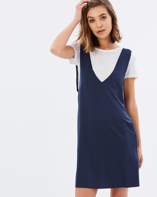 MINKPINK – Layered Dress Navy & White