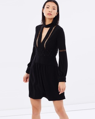 White Suede – Crepe Peta Dress Black