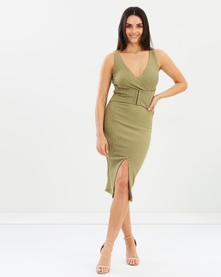Fresh Soul – Cathedral Dress – Bodycon Dresses Khaki