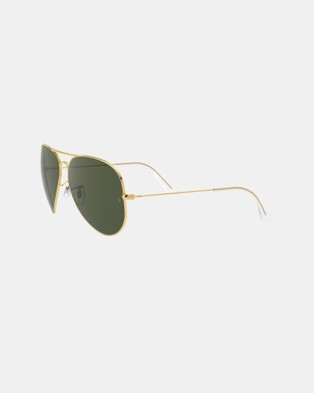 RaBan - Aviator Large Metal II RB3026 - Sunglasses (Solid Colour Green)