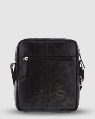 Cobb & Co Mentone Crossbody Flight Bag Satchel - Tech Accessories (Black)