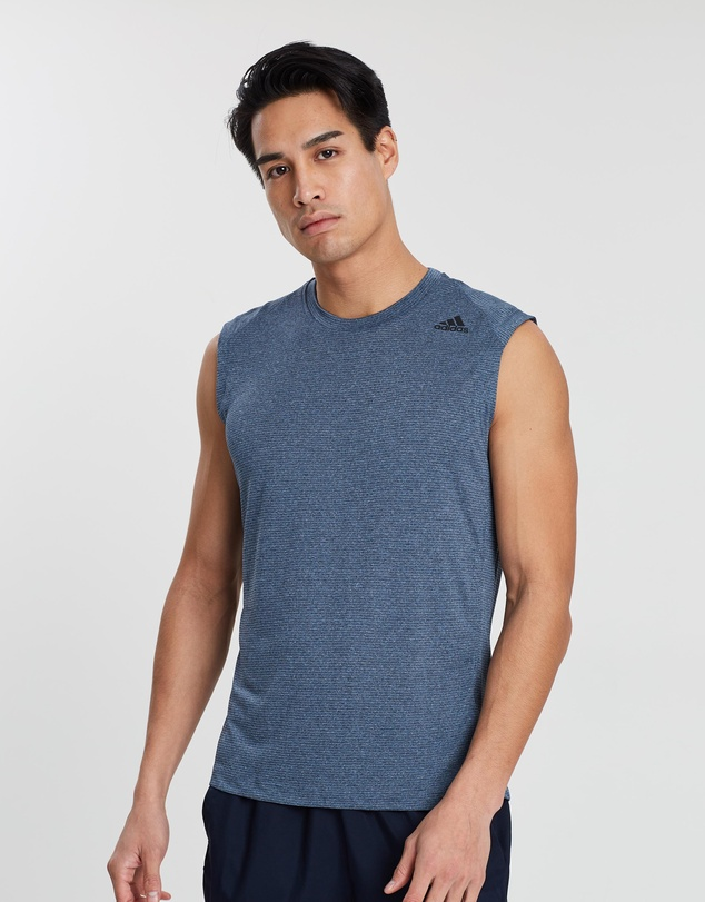 adidas Performance - FreeLift Tech ClimaCool Sleeveless 3-Stripes Tee