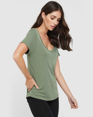 Bamboo Body Classic Scoop Neck Short Sleeve T-Shirts Gum Leaf