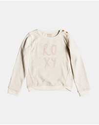 Roxy - Girls 2-7 My Days Poetic Corpo Fleece Jumper