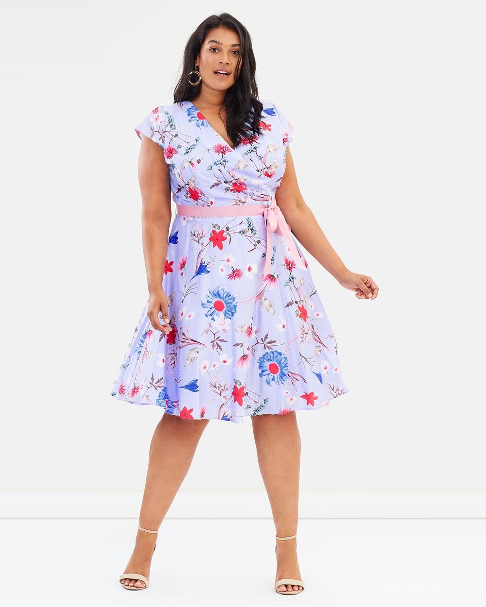 Studio 8 Millicent Dress Printed Dresses Blue Multi Millicent Dress