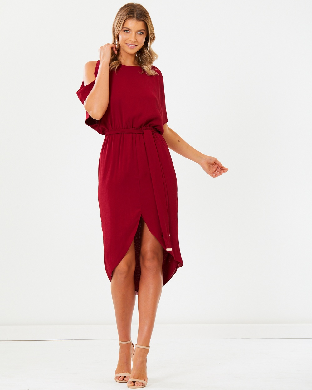 Photo of Tussah Red Philo Midi Dress - beautiful dress from Tussah online
