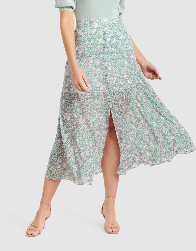 Forever New - Bronte Button Front Midi Skirt