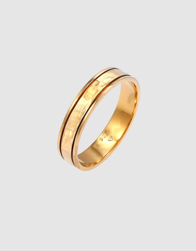 Women Ring Pair Ring Band Wedding Ring Friendship in 925 Sterling Silver Gold Plated