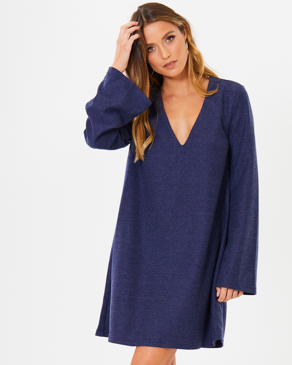 Calli Symi Knit Dress Dresses Blue-Grey Symi Knit Dress