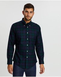 BROOKS BROTHERS - Non-Iron Twill Holiday Tartans Regent Shirt