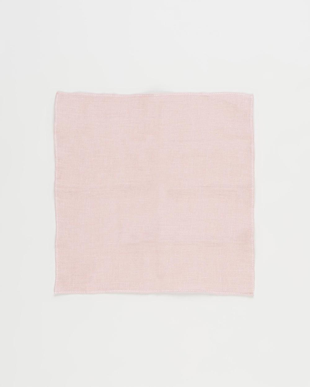 AERE Pocket Square Squares Pink