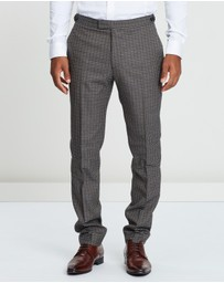 REISS - Tripper Tonal Check Suit Trousers