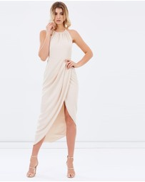 Shona Joy - Core High-Neck Ruched Dress