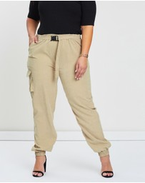 Missguided Curve - Curve Nylon Utility Joggers