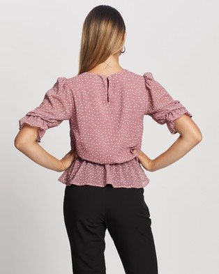Atmos&Here Cindy Blouse - Tops (Pink Spot)