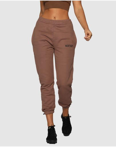 Nicky Kay High-rise Pants Brown