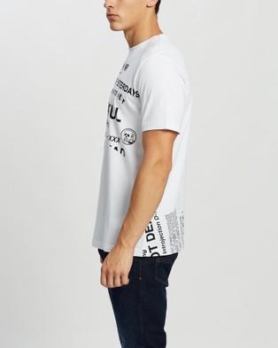 Diesel - T Just Folded Shirt Short Sleeve T-Shirts (White) T-Just-Folded T-Shirt