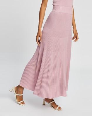 AERE Knit Pleat Skirt - Pleated skirts (Pink Lavender)