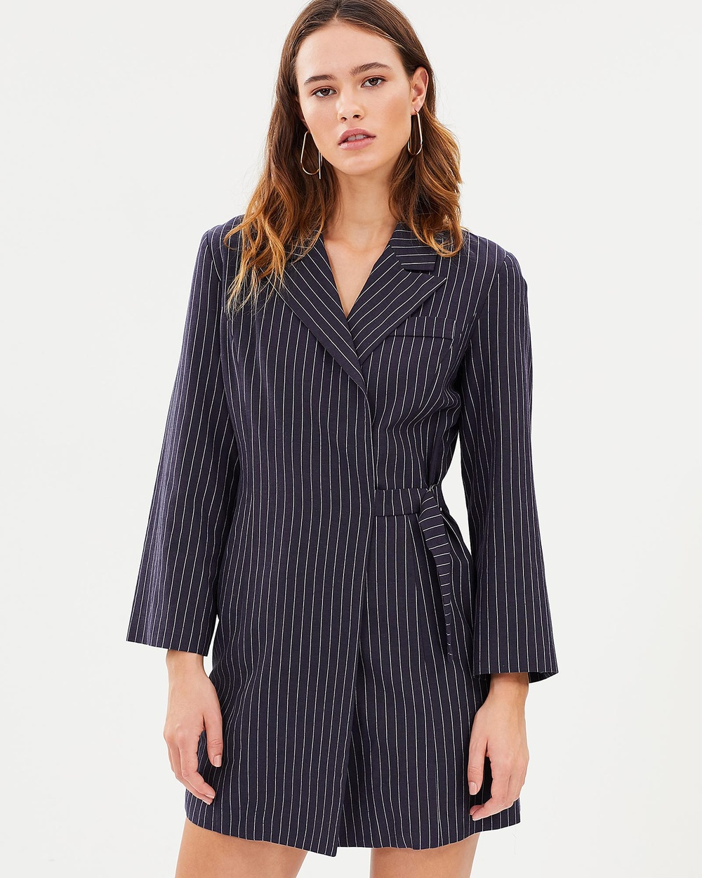 Third Form Line Up Blazer Dress Dresses Navy Stripe Line Up Blazer Dress