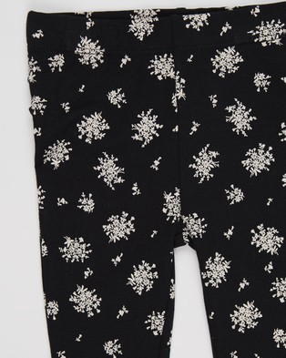 Cotton On Baby Quinn Ruffle Leggings   Babies - Clothing (Black & Olivia White Floral)