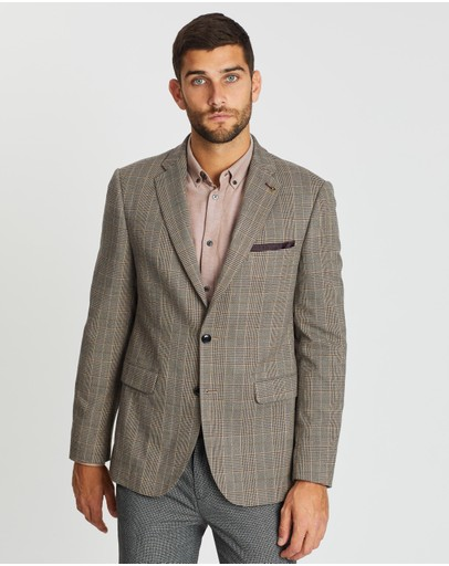 Burton Menswear - Highlight Slim Fit Check Blazer