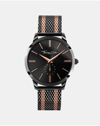 THOMAS SABO - Mens Black & Rose Stripes Watch