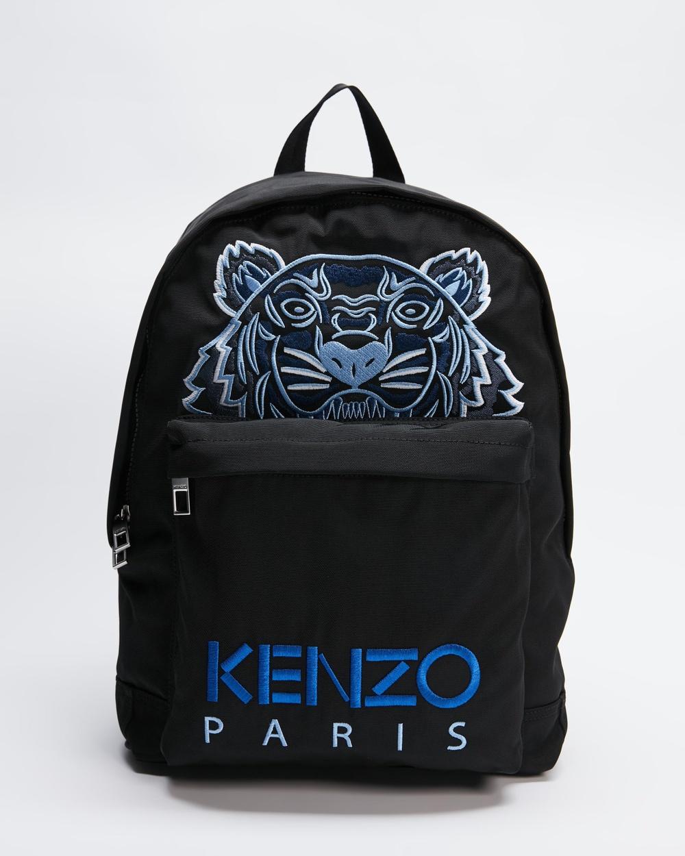 Kenzo Embroidered Tiger Backpack Backpacks Black