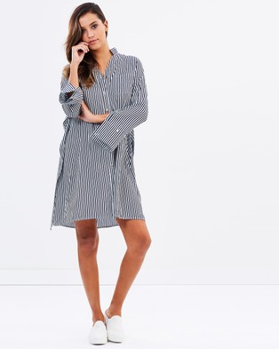 Airlie – Pamela Stripe Tie Front Dress