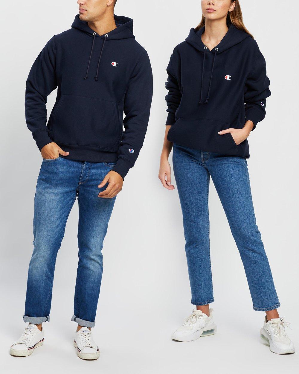 aanbod tijdloos design exclusief assortiment Reverse Weave Pullover Hoodie
