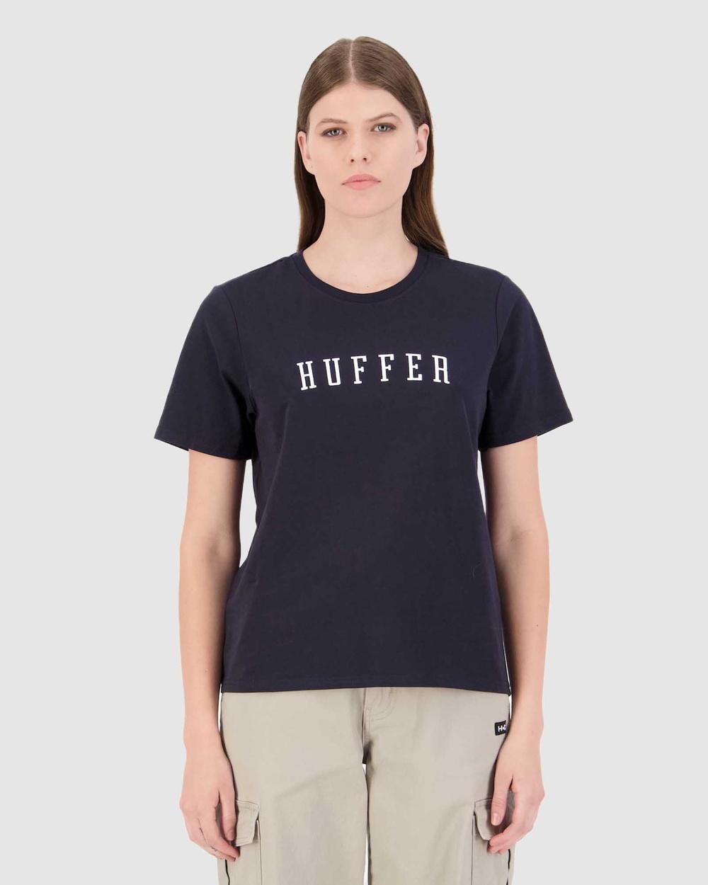 Huffer Women's Stella Tee Stateside T-Shirts & Singlets Blue Tee-Stateside Australia