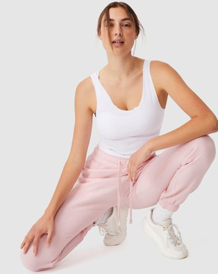 Cotton On Body Active Lifestyle Gym Track Pants - Sweatpants (Pink Sherbet)