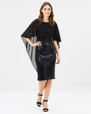 Montique – Nicolle Sequin Shift Dress Black