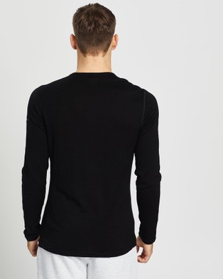 Icebreaker 260 Tech Long Sleeve Crewe - All base Layers (Black)