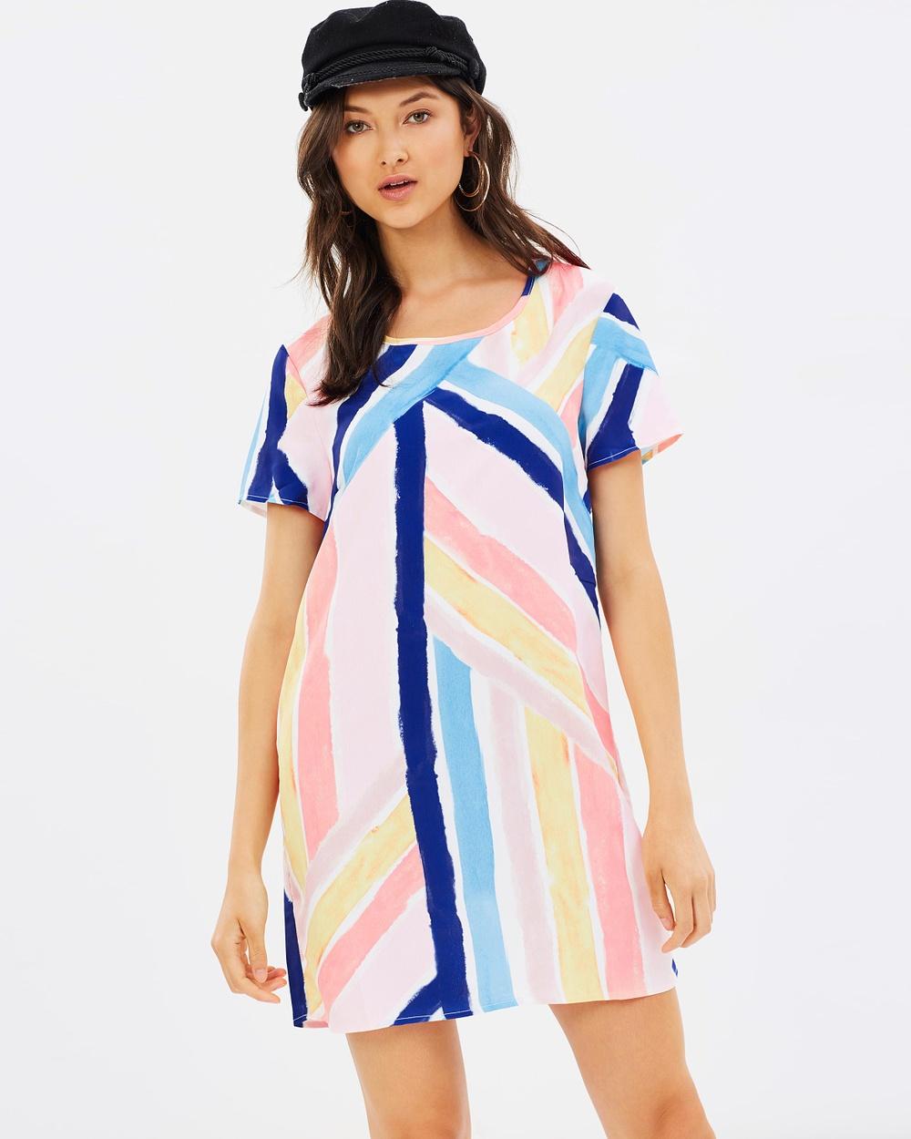 MINKPINK Mara T Shirt Dress Printed Dresses Multi Mara T-Shirt Dress