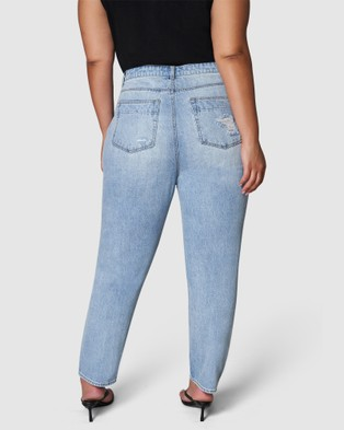 Sunday In The City Whatcha Gonna Mom Jeans - Mom Jeans (BLUE)