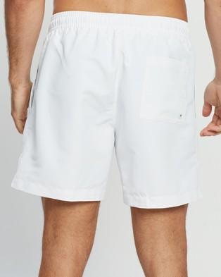 Calvin Klein Intense Power Medium Drawstring Boardshorts - Swimwear (PVH Classic White)