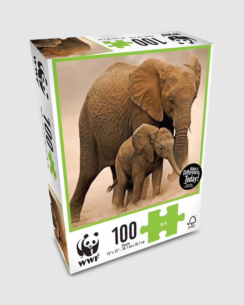 WWF Animal 100 Piece Puzzle Baby Elephant Accessories Baby  100-Piece