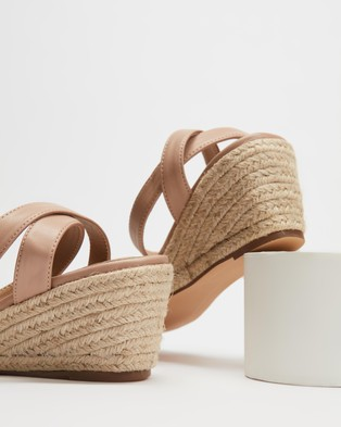 SPURR Iris Wedges - Wedges (Nude Smooth)