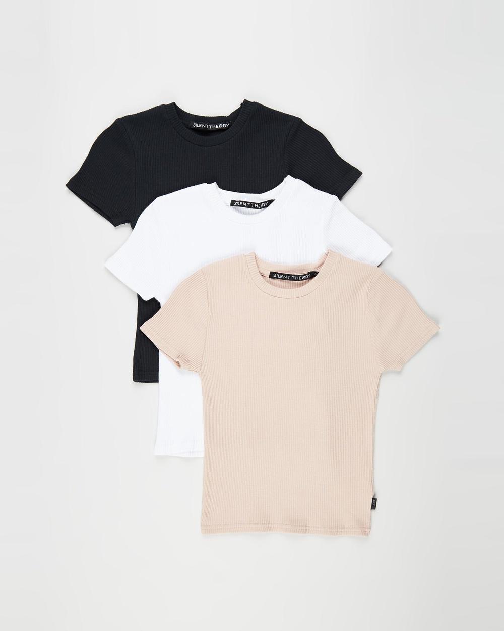 Silent Theory - Manhattan SS Tee 3 Pack - Short Sleeve T-Shirts (MULTICOLOURED) Manhattan SS Tee 3-Pack