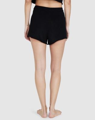 Subtitled Rex Knit Shorts - Shorts (BLACK)