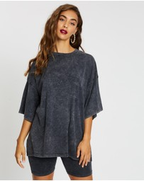 Missguided - Drop Shoulder Oversized Washed Top